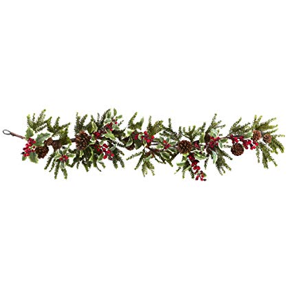 Amazon.com: Nearly Natural 4942 Holly Berry Garland, 54.