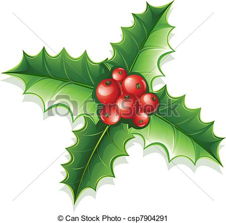 Holly green clipart #4