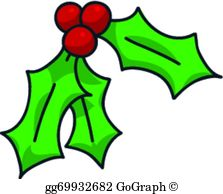 Holly Leaves Clip Art.