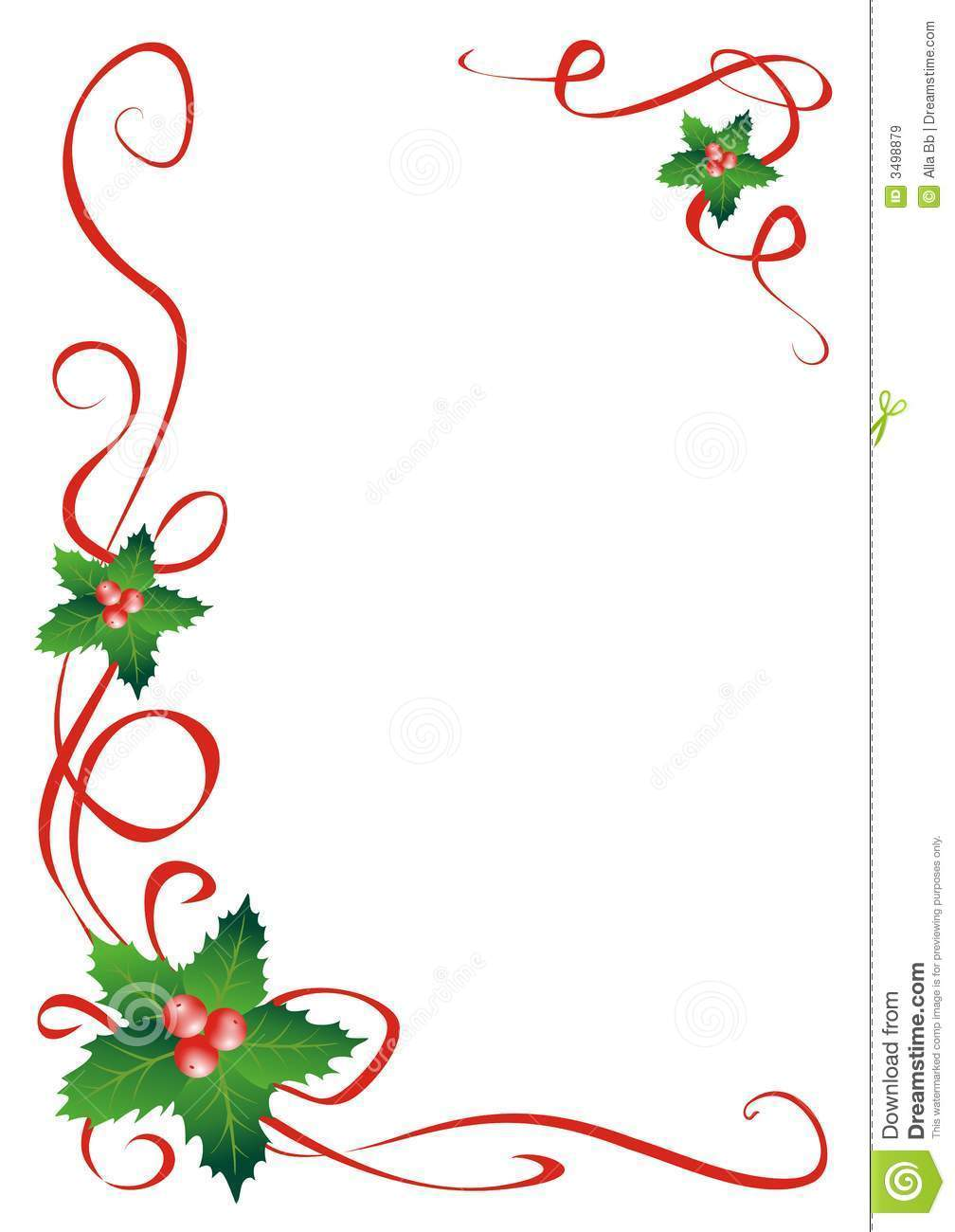 Holly line clipart 5 » Clipart Portal.