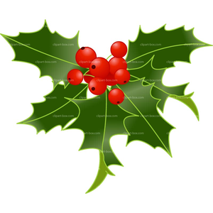 Holly Sprig Clipart.