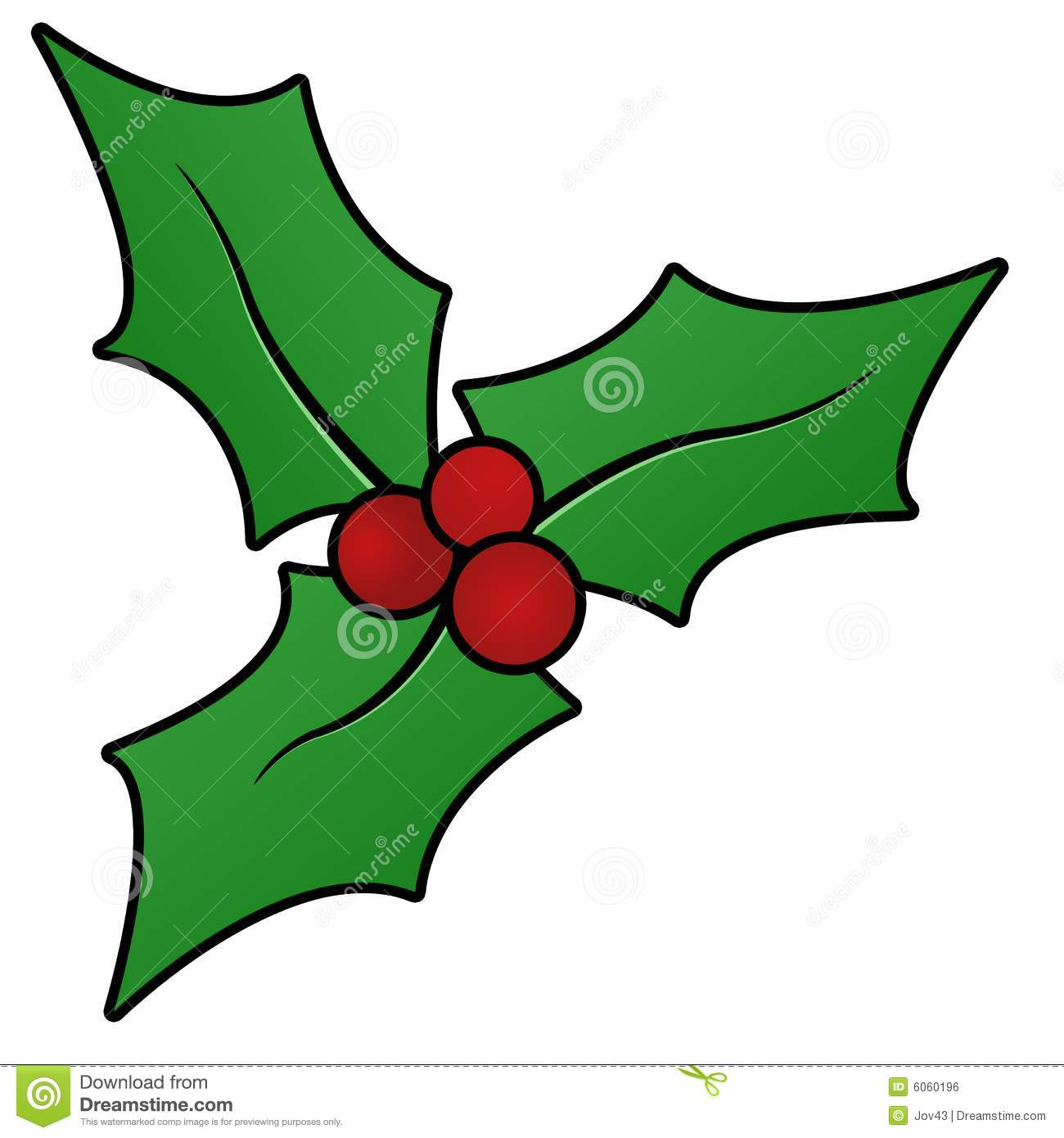 Christmas holly sprig stock illustration. Illustration of graphic.