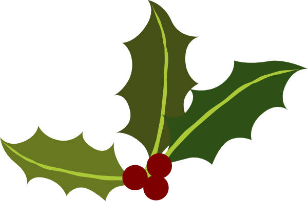 Holly Leaves With Berries Clip Art at Clker.com.