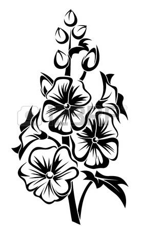94 Hollyhock Cliparts, Stock Vector And Royalty Free Hollyhock.