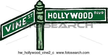 Clipart of Hollywood Vine 2 hw_hollywood_vine2_c.