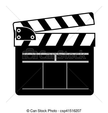 movie clapboard icon.