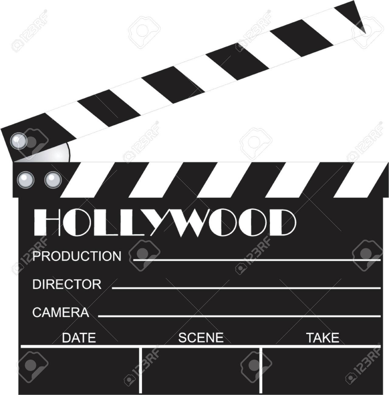 movie clapboard.