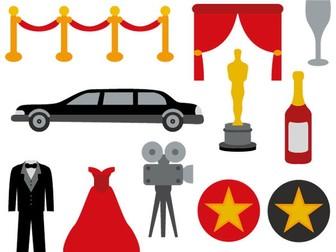 Hollywood Movie Night Clip Art BUNDLE.