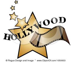 Hollywood theme clip art.