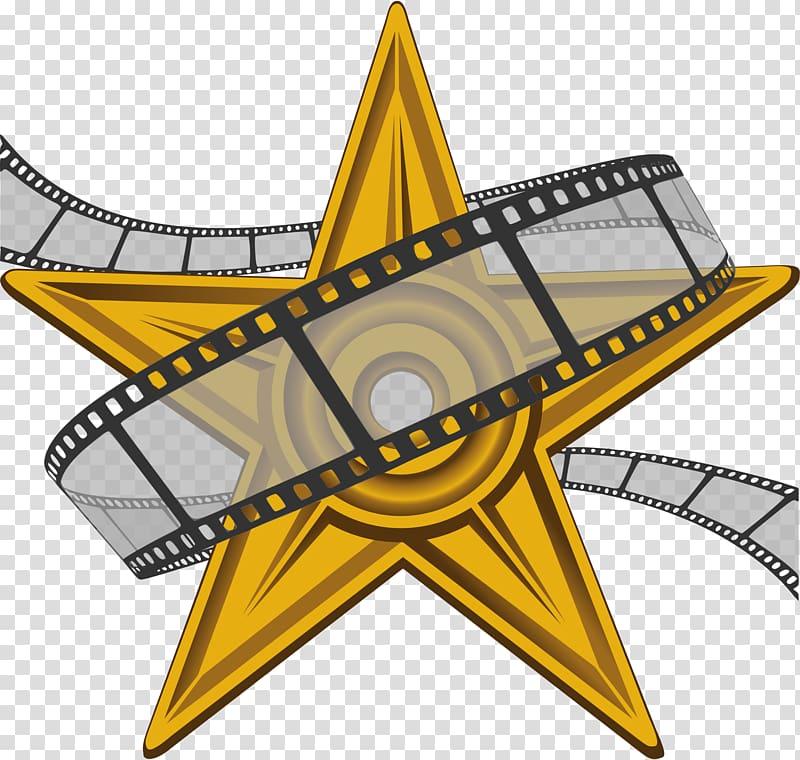 Yellow star illustration, Film festival Documentary film.