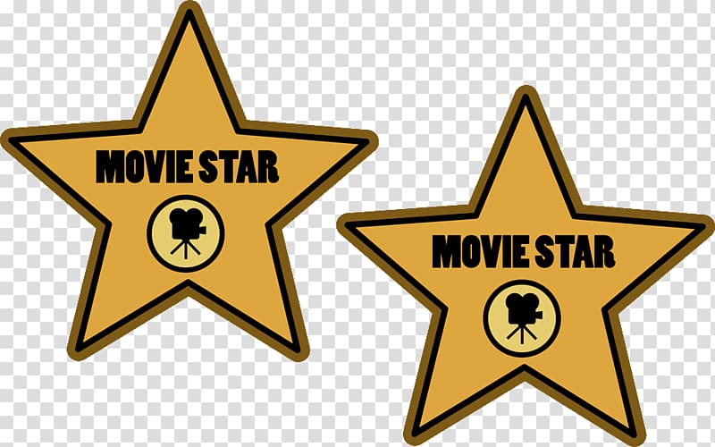 Movie Star logo collage illustration, Hollywood Walk of Fame.