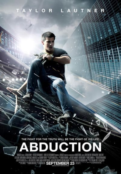 New Abduction Movie Poster: Taylor Lautner in Action!.