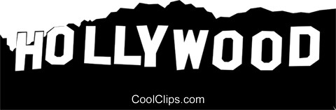 Hollywood sign clipart.