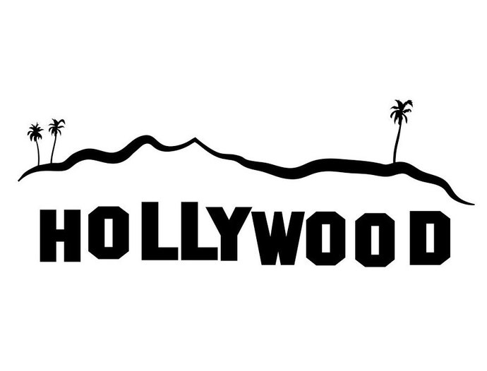 Hollywood Sign Los Angeles graphics design SVG DXF EPS Png Cdr Ai Pdf  Vector Art Clipart instant download Digital Cut Print File Shirt Decal.