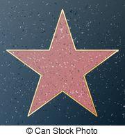 Hollywood music walk of fame EPS Clip Art.