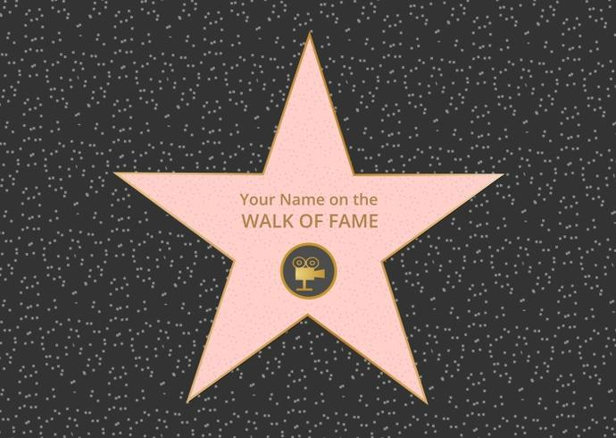 Free Hollywood Walk Of Fame Vector.