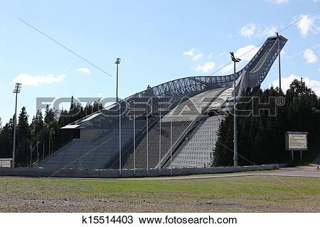 Stock Photo of OSLO, Holmenkollen ski jump hill Oslo k15514403.