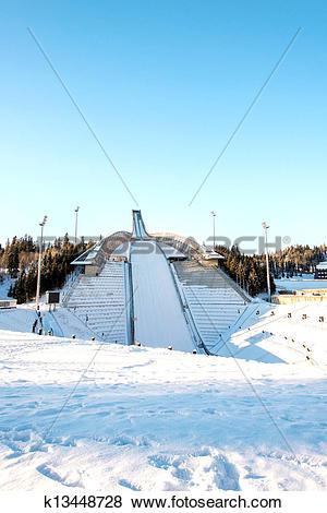Pictures of Holmenkollen ski jump in Oslo k13448728.