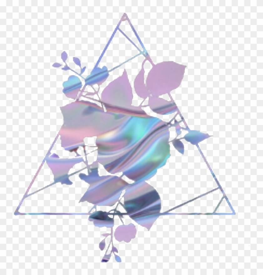 holo #holographic #colorful #triangle #frame #icon.
