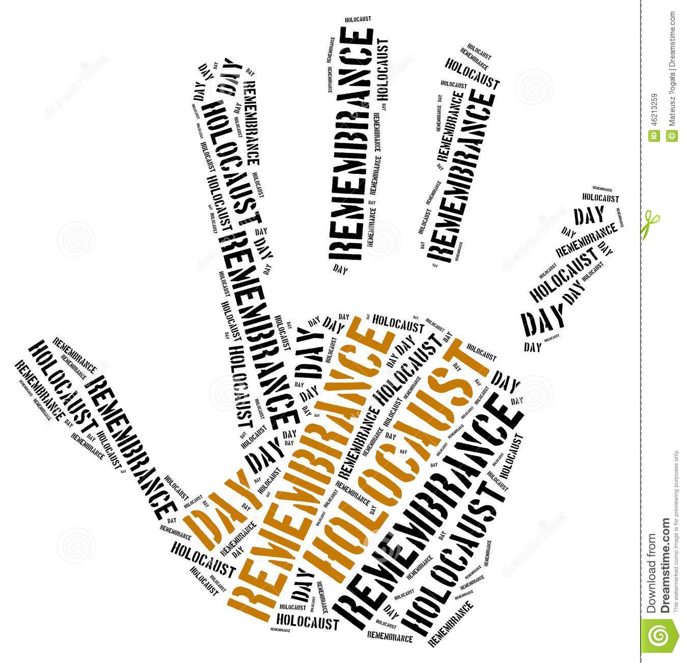 Holocaust remembrance day clipart.