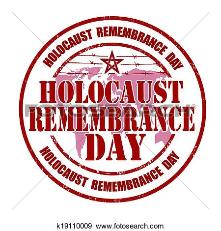 Clip Art of Holocaust remembrance day stamp k19110009.