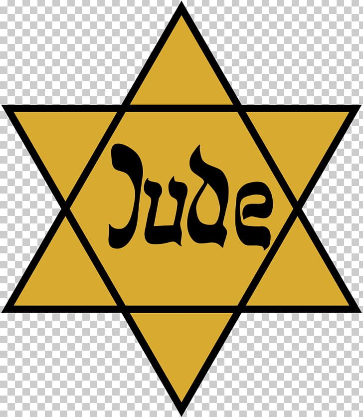 The Holocaust Star Of David Yellow Badge Jewish People Judaism PNG.