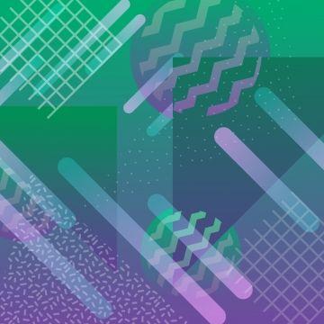 2019 的 Neon Background With Gradient Geometric Pattern.