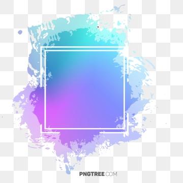Beautiful Hologram Color Frame, Frame, Pastel, Square PNG.