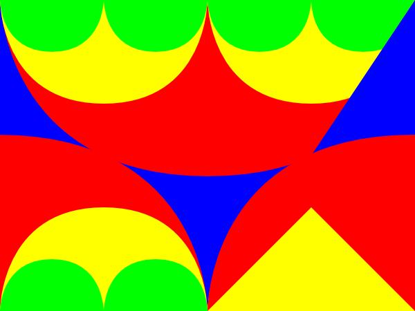 Arches Interlocking 3 Pattern clip art Free Vector / 4Vector.