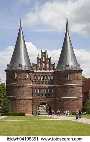 Stock Photography of Holsten gate, Lubeck, Hanseatic City.