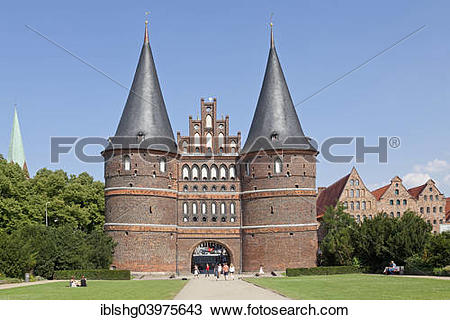 "Stock Photo of ""Holsten Gate, Lubeck, Schleswig."