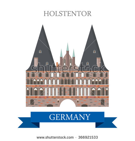 Vector Images, Illustrations and Cliparts: Holstentor Holsten Gate.