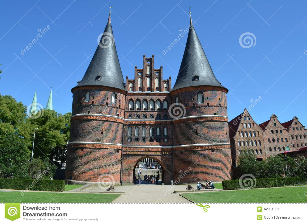 Holsten Gate, Landmark Of The Hanseatic City Of Lübeck Editorial.
