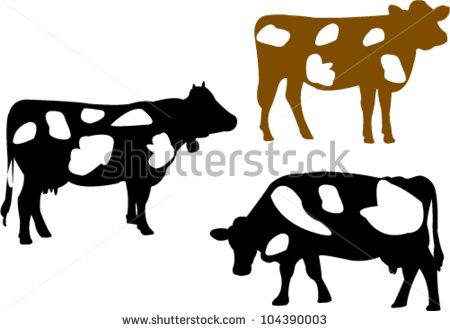 cow silhouette clip art.