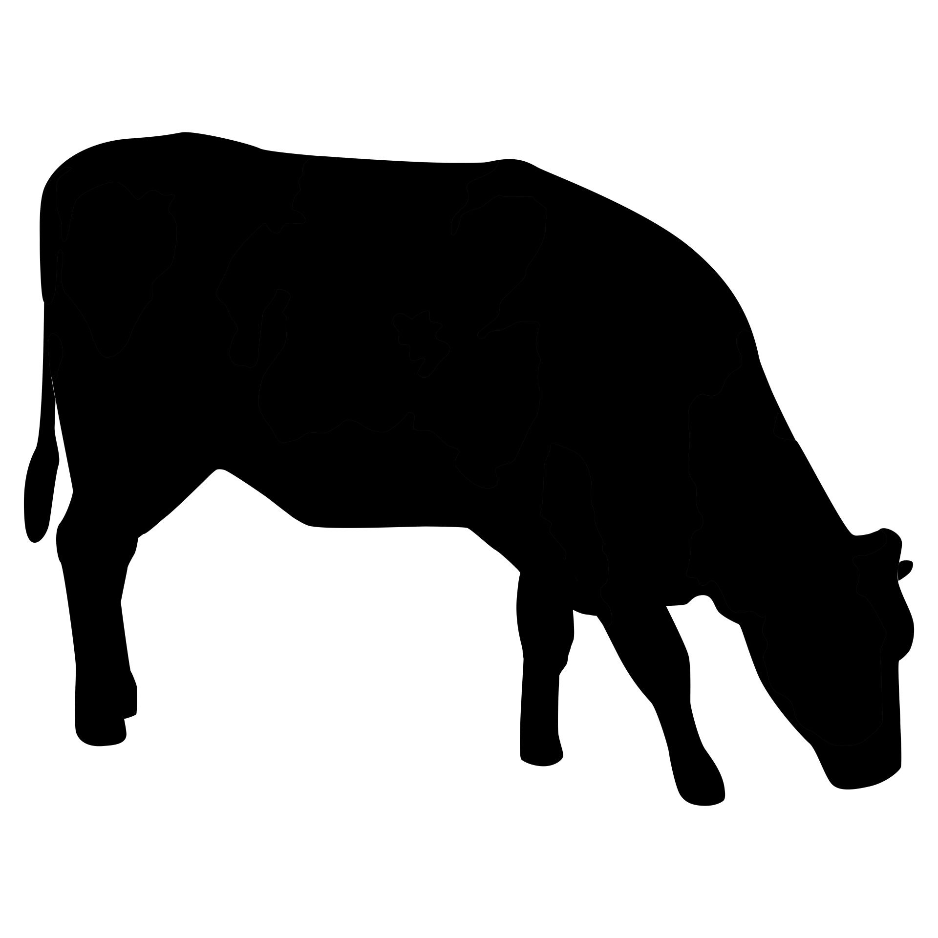 Cow Silhouette Free Stock Photo.