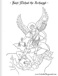 holy archangels clipart to color #4