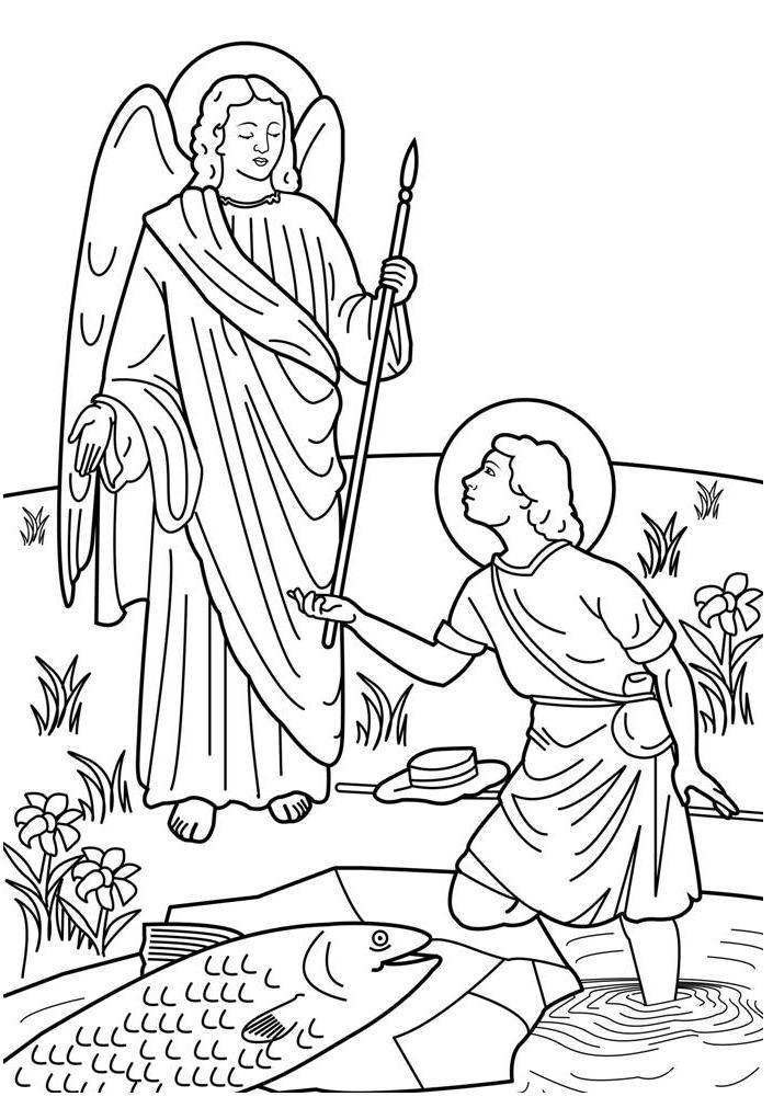 holy archangels clipart to color #11