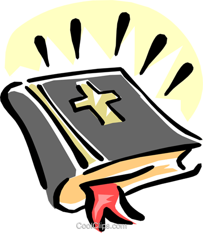 holy bible Royalty Free Vector Clip Art illustration.