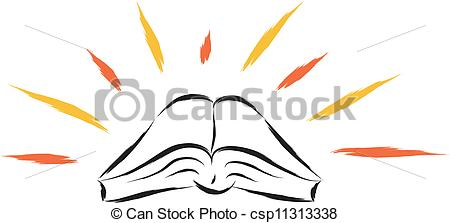 Holy books clipart.