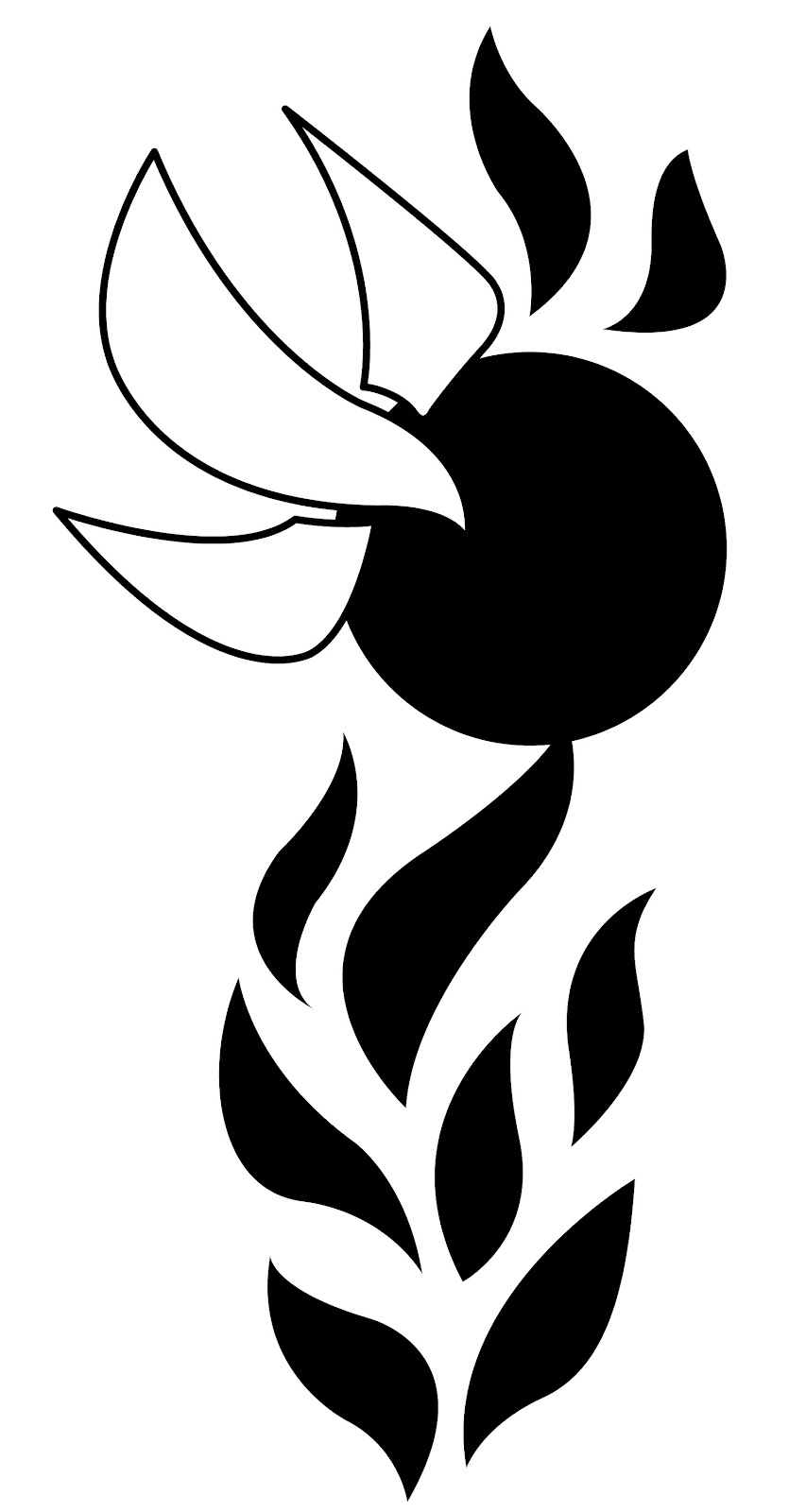 Holy spirit flame clip art.