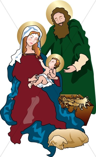 Holy Family in the Stable.