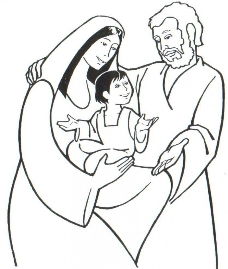 Free Holy Family Coloring Pages, Download Free Clip Art.