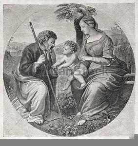 Free Clipart Holy Family.