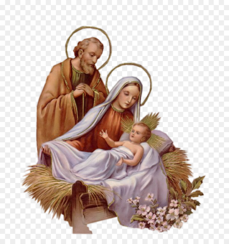Holy Family Christmas clipart.