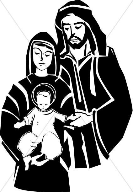 Jesus With His Parents.