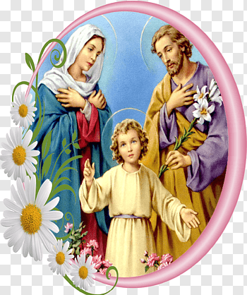 Holy Family cutout PNG & clipart images.