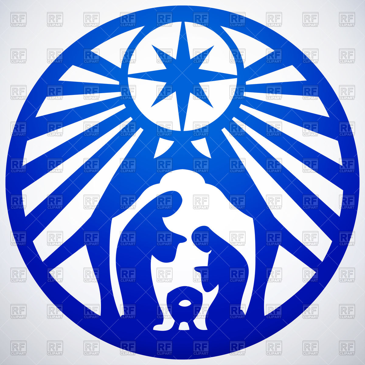 Holy family silhouette.