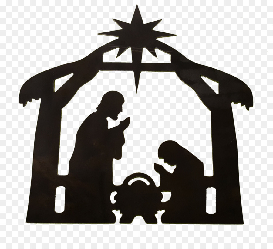 Holy Family Nativity scene Star of Bethlehem Christmas Clip.
