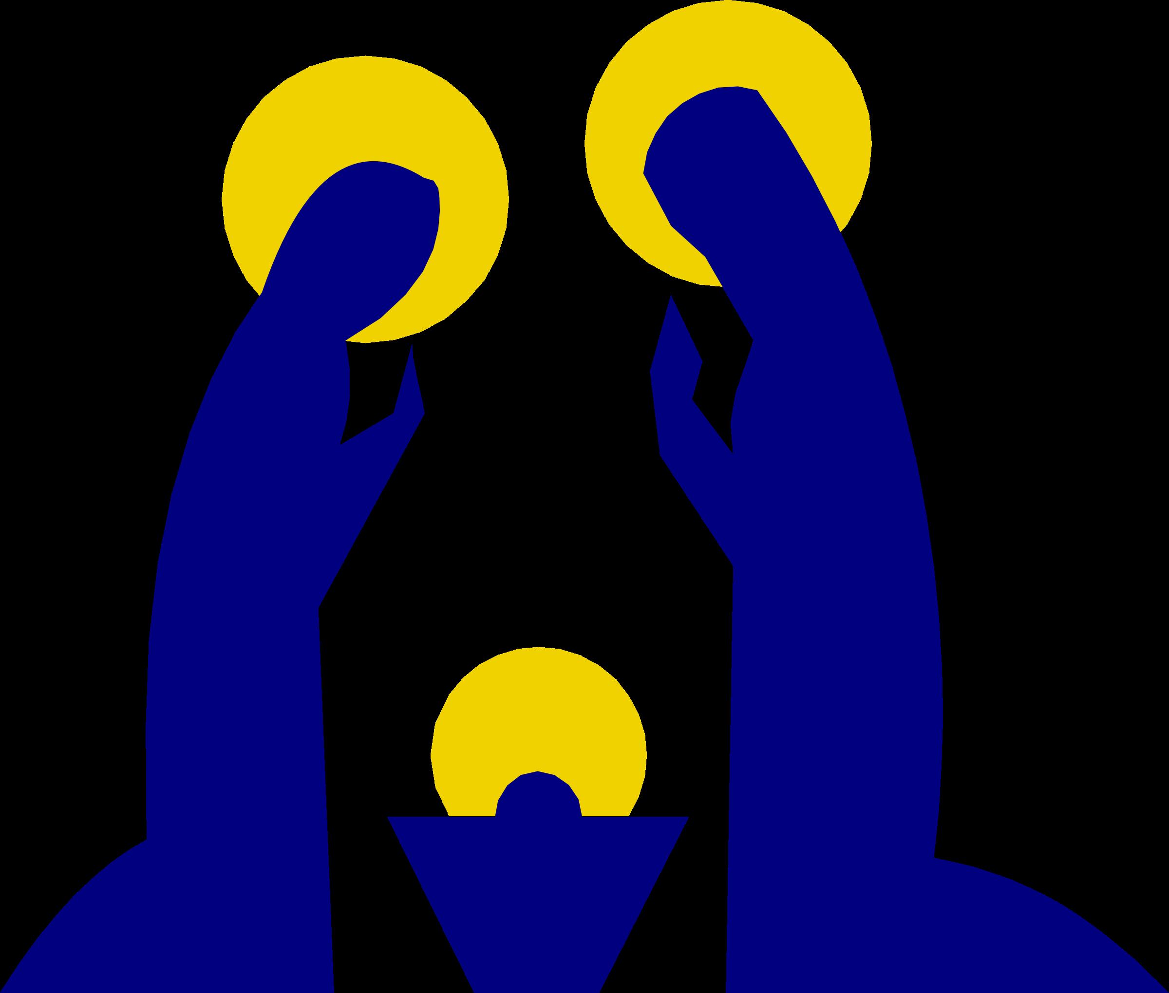 Holy Family Nativity scene Clip art.