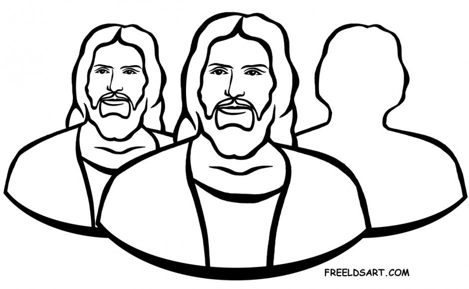 Clip Art Holy Ghost LDS Coloring Page.